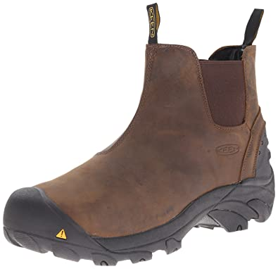 f653c75911 KEEN Utility Men's Detroit Slip-On Work Boot, Cascade Brown, 8.5 EE US