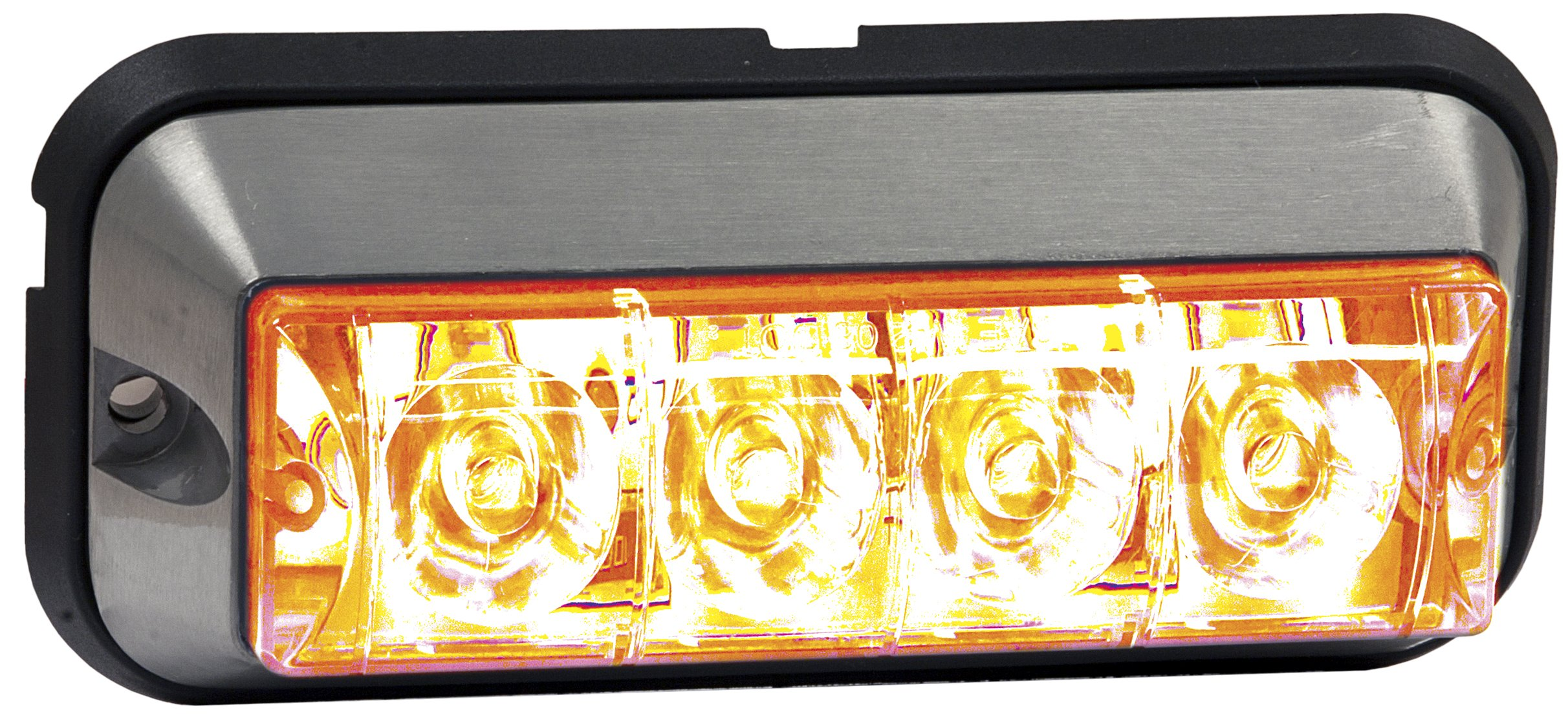 Buyers Products 4.875 Inch Amber Rectangular LED Strobe Light (8891004)