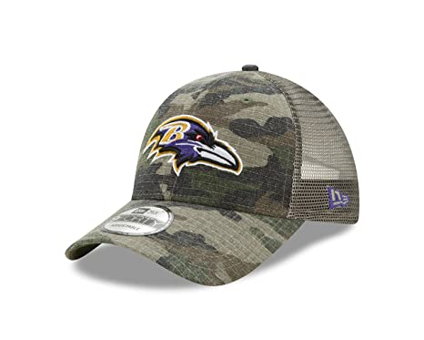 new concept ff8de 9a456 Image Unavailable. Image not available for. Color  Baltimore Ravens Camo  Trucker Duel New Era 9FORTY Adjustable Snapback Hat ...