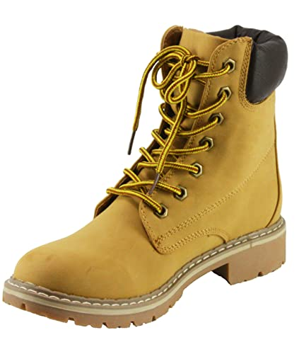 Women's Broadway-3 Lace-up Combat Style Ankle-High Low Heel Boots