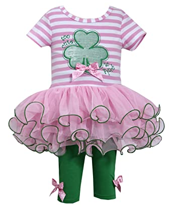 Amazon.com: Bonnie Jean Girls 2-piece St. Patrick\'s Day Tunic ...