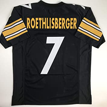 the latest 4bc74 57c0a Unsigned Ben Roethlisberger Pittsburgh Black Custom Stitched Football  Jersey Size Men's XL New No Brands/Logos