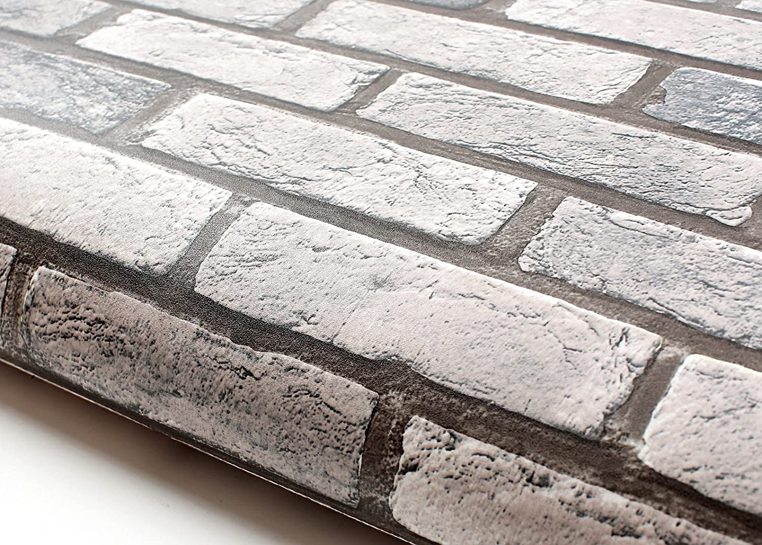 - ROSEROSA Peel And Stick Flame Retardation PVC Faux Brick Instant