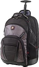 Wenger Luggage Synergy Padded Wheeled Laptop Bag with Trolley Handle, Black/Grey,