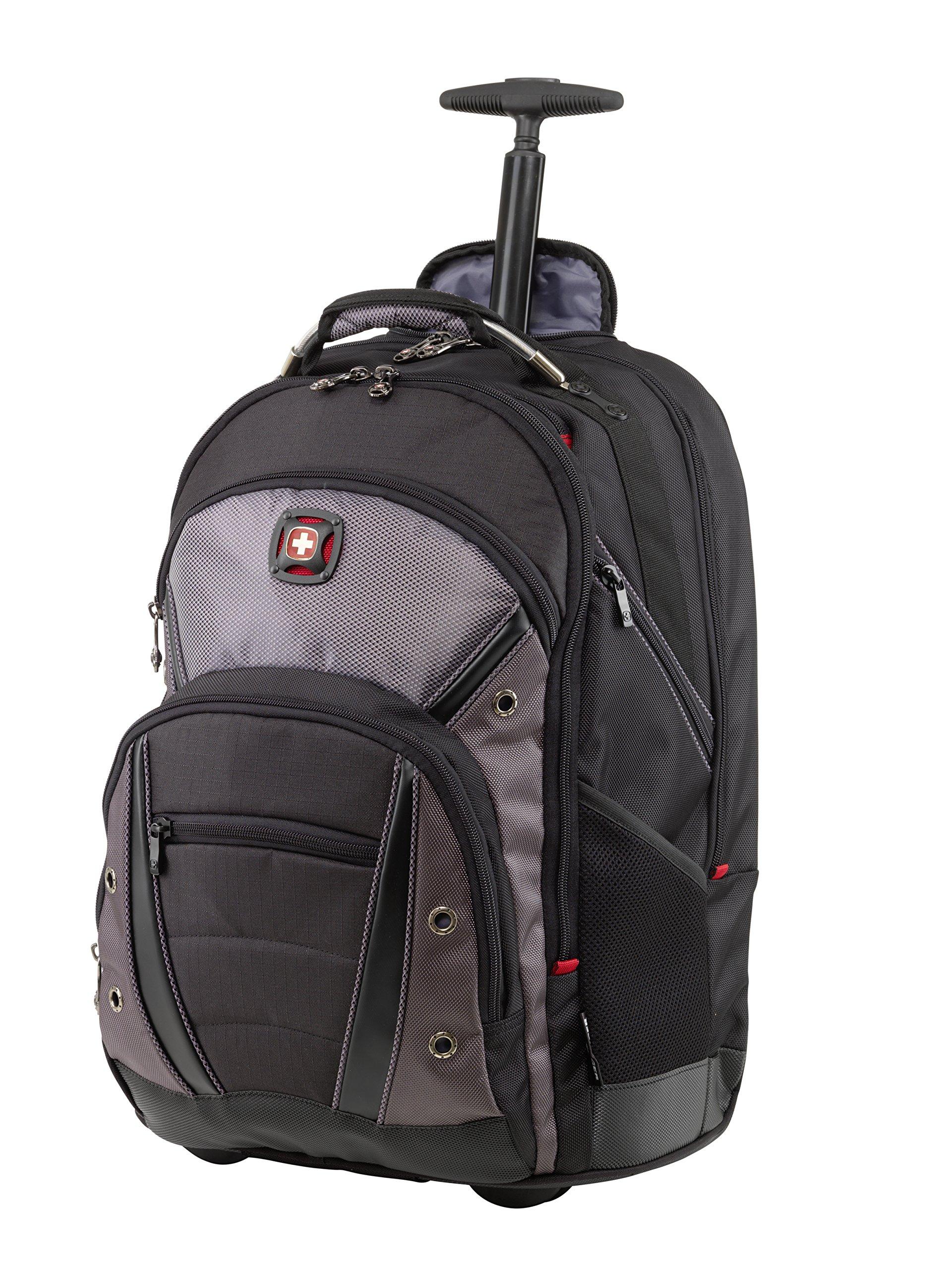 Wenger Luggage Synergy Wheeled 16'' Laptop Backpack Bag, Black/Grey, One Size