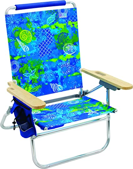 Amazon Com Rio Beach Bum Folding Beach Chair Baja Boho Palms Sports Outdoors