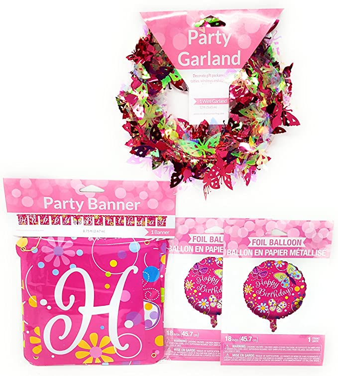 Painted Balloons Birthday Party Foil Cascade Decoration