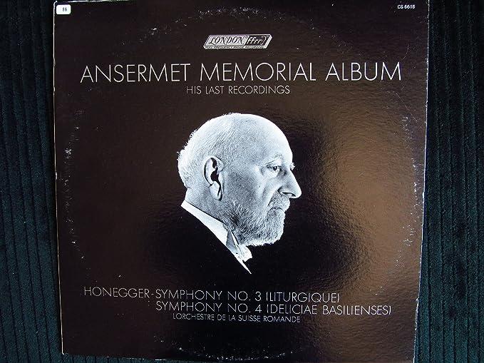 Arthur Honegger Ernest Ansermet Lorchestre De La Suisse Romande Ansermet Memorial Album Amazon Com Music