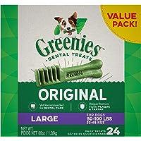 GREENIES Original Large Natural Dog Dental Care Chews Oral Health Dog Treats, 36 oz. Pack (24 Treats)