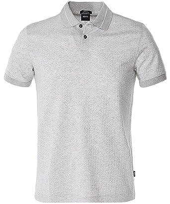 fdc7eccbd BOSS Men's Slim Fit Phillipson 47 Polo Shirt Gray at Amazon Men's ...