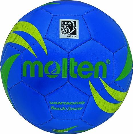 Molten - Balón de fútbol-playa, color azul/verde/amarillo, talla 5 ...