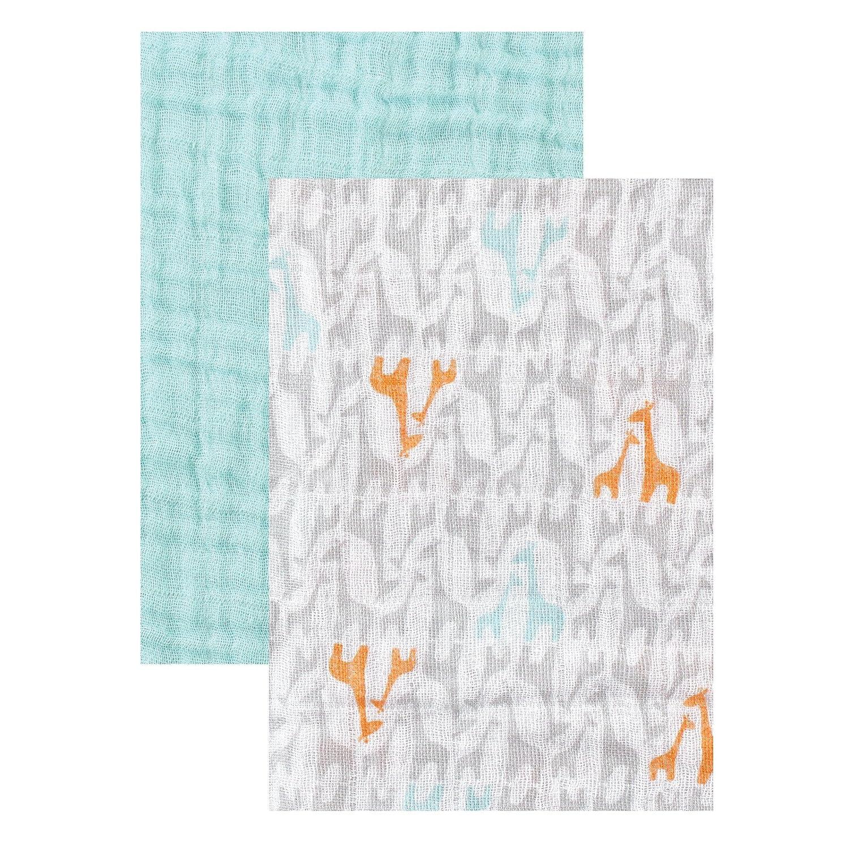 Yoga Sprout 2-Pack Muslin Swaddle Blankets Blue Sharks BabyVision 10290255/_Shark