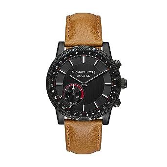 2b4cbd0c43a1 Amazon.com  Michael Kors Access Men s  Hutton Hybrid Smartwatch  Quartz  Stainless Steel and Leather Casual Watch