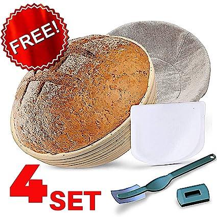 Amazon com: KIT 10 Inch Bread Basket Sourdough Starter