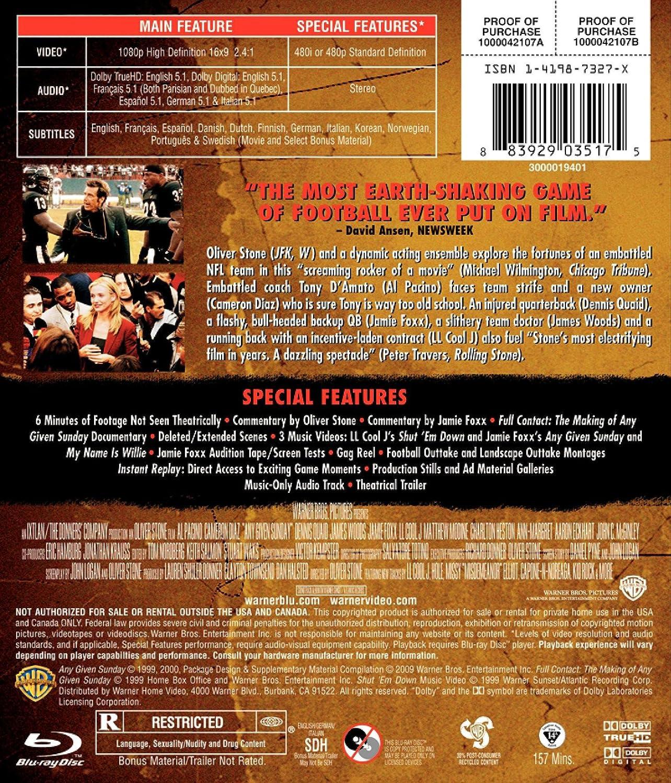 Amazon.com: Any Given Sunday (Director\'s Cut) [Blu-ray]: Ann-Margret ...