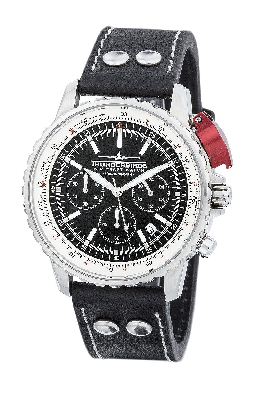 Thunderbirds - FightingSteel - Chronograph - Lederband - Schwarz - Ref. TB1048-2-01-E09s