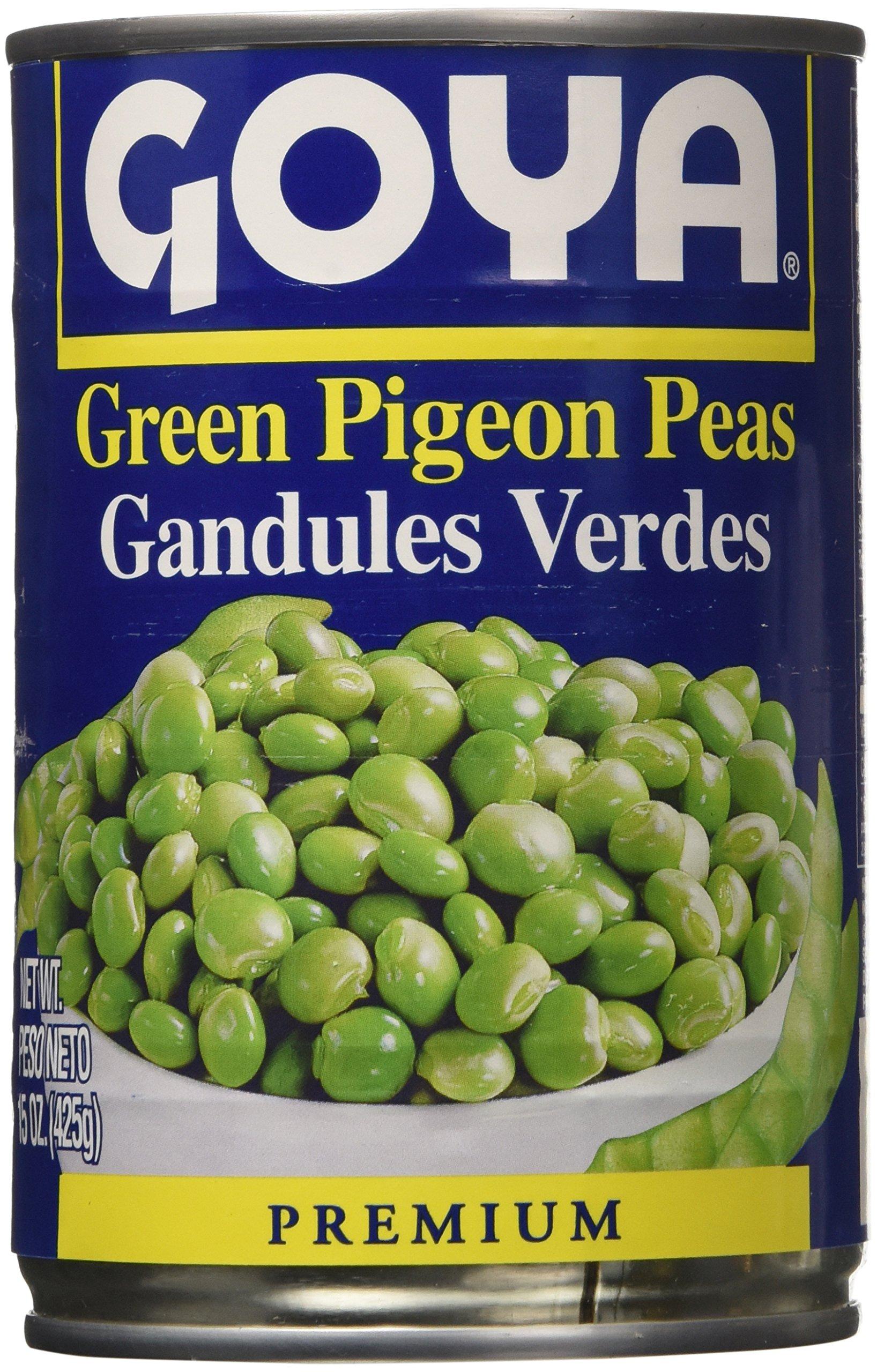 Goya Green Pigeon Peas-15 Ounce, 6 Count