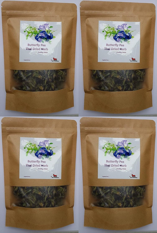 Amazoncom 4 Packs Butterfly Pea Flower Healthy Thai Dried Herb Tea