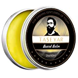 Beard Balm, TASEYAR 60ml 100% Natural Scented Beard Wax Conditioner Butter For Beard Care, Maintenance and Improve Growth Creating Beard Styles, Mustache, Goatee & Sideburns - Gift Set for Men