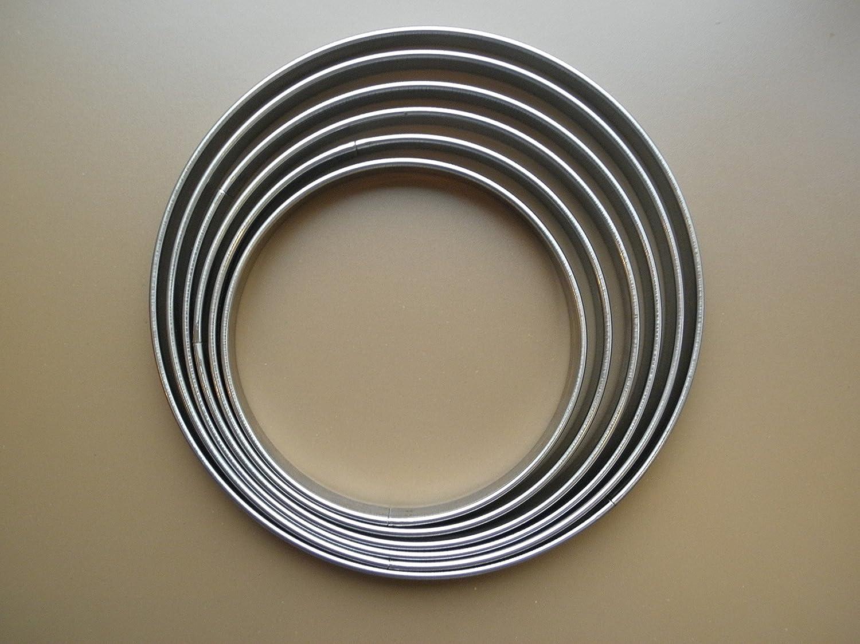 FaisTonGateau - Set di 6 anelli per torte, in acciaio inox, da 18 a 28 cm Mallard