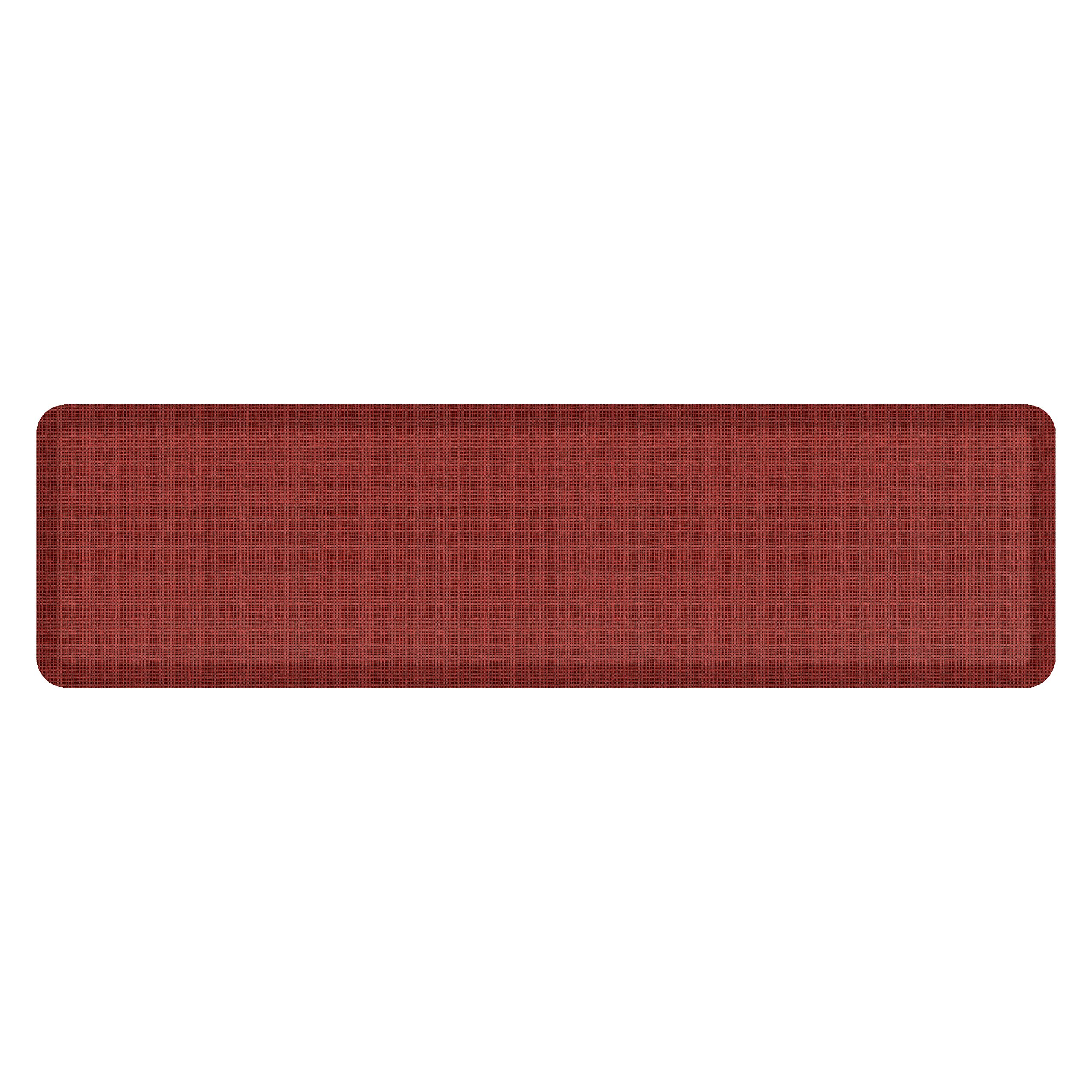 """NewLife by GelPro Anti-Fatigue Designer Comfort Kitchen Floor Mat, 20x72'', Tweed Barn Red Stain Resistant Surface with 3/4"""" Thick Ergo-foam Core for Health and Wellness"""
