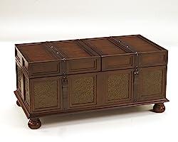 Ashley Furniture Signature Design - McKenna Coffee Table with Storage - Cocktail Height - Dark Brown