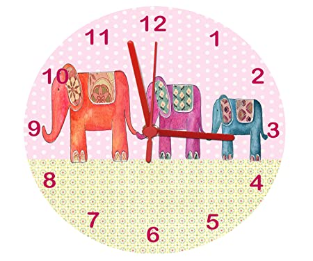 Elephant Clock,Girls Room Clock,Nursery Clock,Nursery Clock: Amazon ...