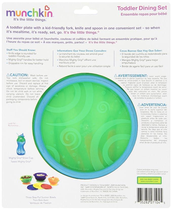 Amazon.com: Munchkin bebé Set de comedor, colores pueden ...