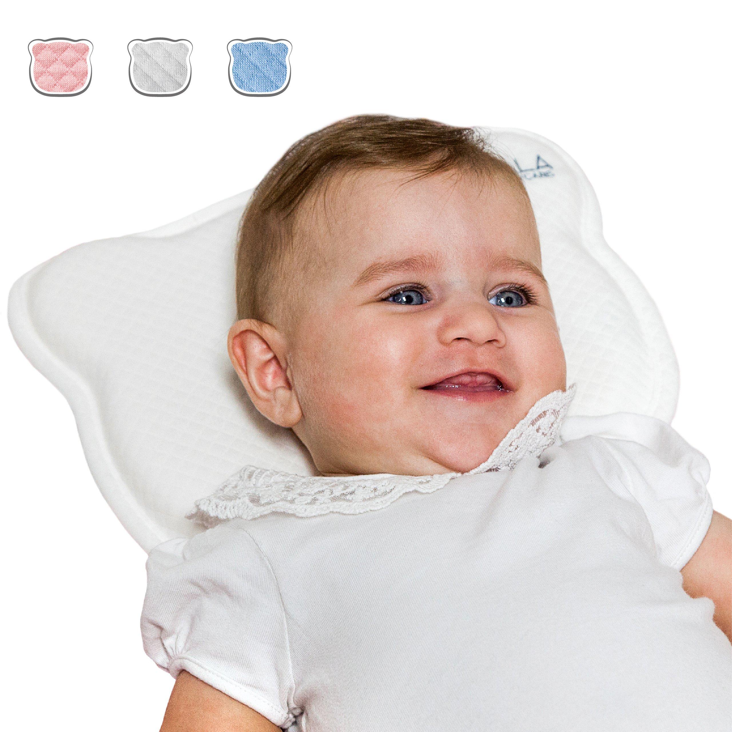 Almohada para Bebe para plagiocefalia desenfundable (con dos forros) para prevenir/curar la Cabeza Plana in Memory Foam Antiasfixia - KoalaBabycare® ...