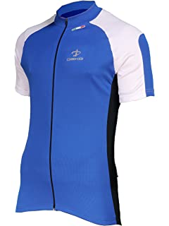 Deko Phobos Full Zip Short Sleeve Cycle Shirt Retro Cycling Top Jersey Blue f80cad3a8
