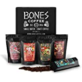 Bones Coffee World Tour Sample Pack, Whole Bean Coffee Sampler Gift Box Set, Pack of 5 Assorted Single-Origin Whole Coffee Be