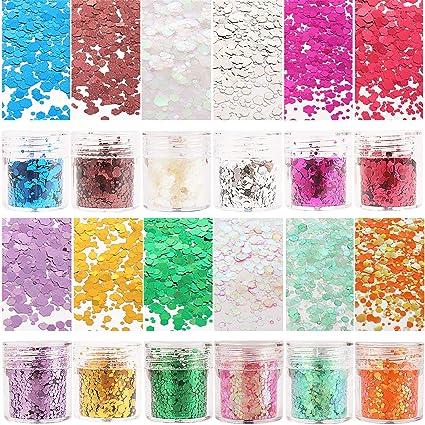 Amazon.com: SUBANG 12 Cajas Chunky Glitter Scrunchies Chunky ...