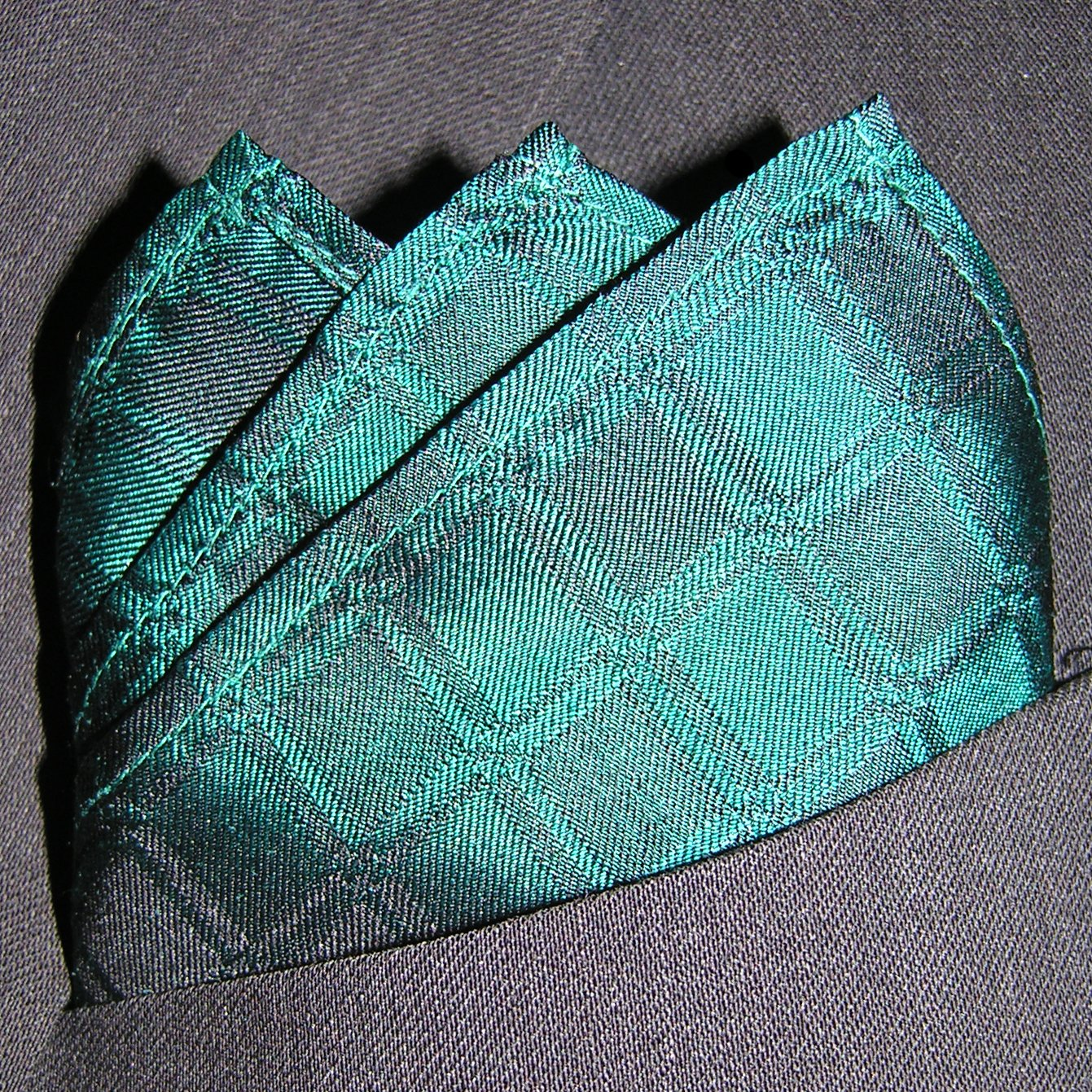 Full-Sized 16x16 Jade Squares Silk Pocket Square