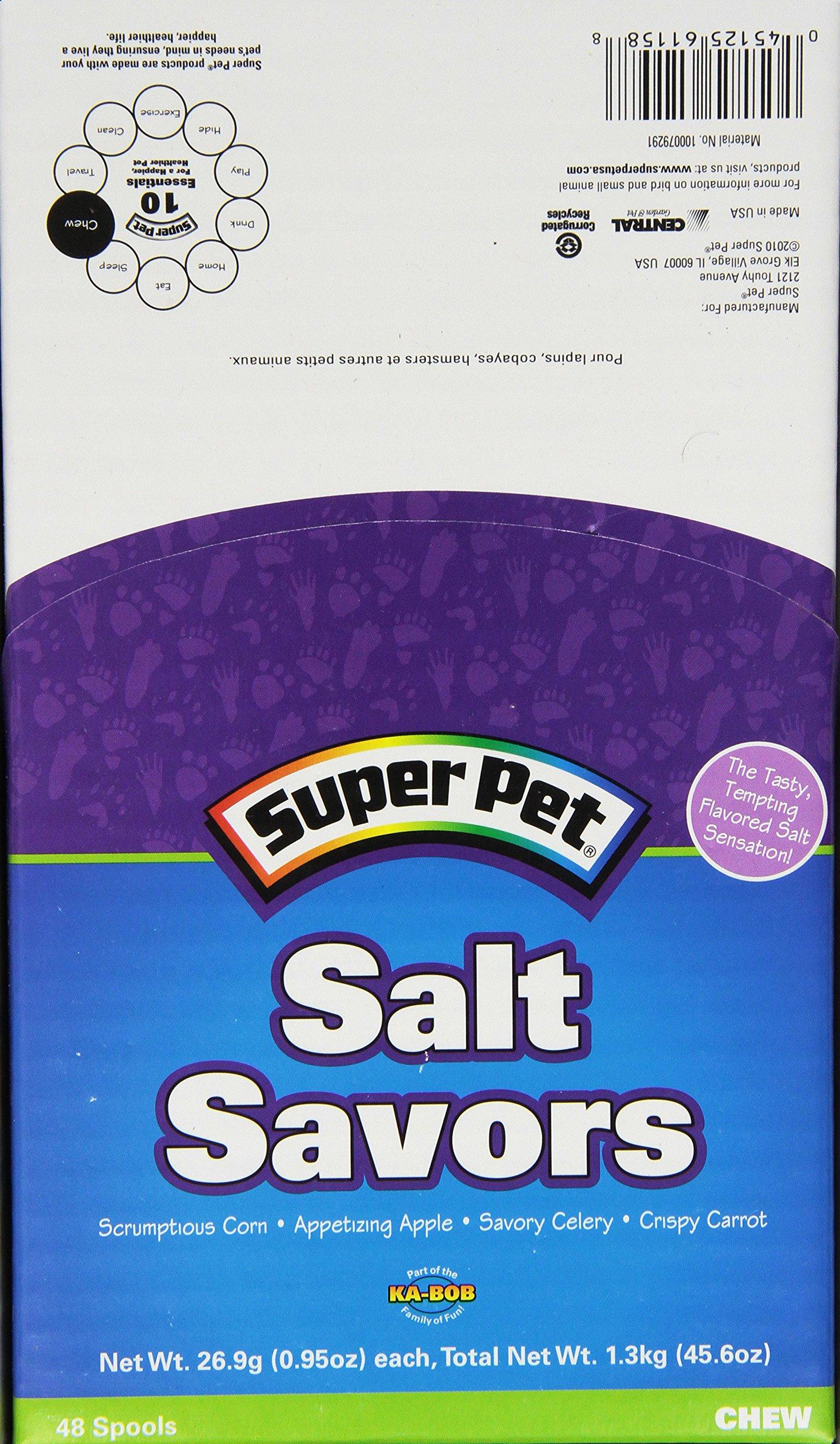 Superpet (Pets International) Ssr61158 48-Pack Small Animal Mini Salt Savors Pet Treat With Counter Display