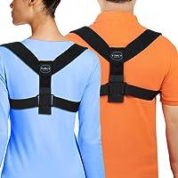 Toncy Gear Corrector de Postura de Espalda para Hombres y Mujeres – La Mejor Abrazadera con Soporte para la Clavícula – Alineación de Hombros – Alivia el Dolor de Espalda – Corrige la Mala Postura
