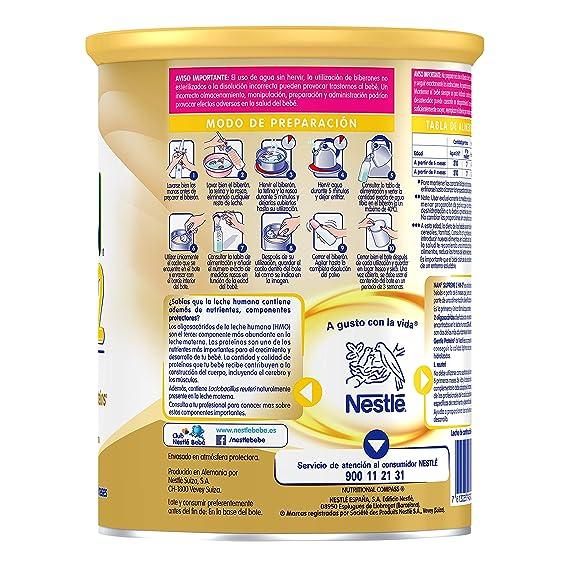 NAN SUPREME 2 - Leche de continuación en polvo Premium - Fórmula para bebé - A partir de los 6 meses - 800g: Amazon.es: Alimentación y bebidas