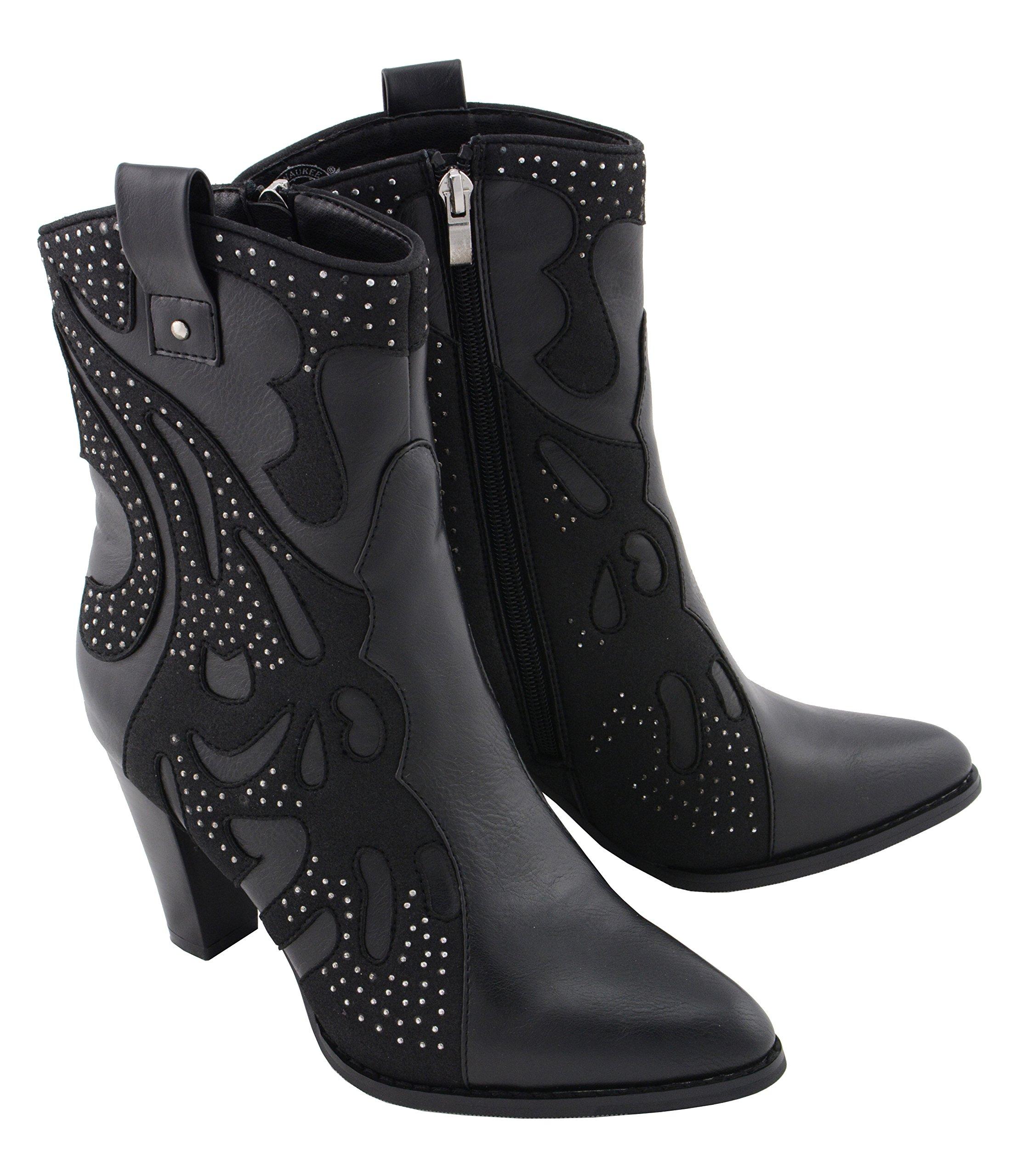Milwaukee Performance Women's Western Style Boot (Black, 9)