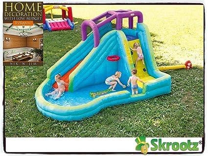 7f100f09920d0 Inflatable Bounce House Jump Splash Adventure Water Slide Bouncer Pool  Waterslide New Kids Home Banzai Outdoor