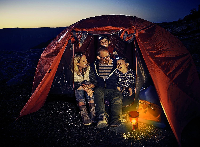 resistente urti e acqua IPX4 Varta 18663 Torcia LED Camping Lantern L20 3 modalit/à luce campeggio base gomma camper caravan pesca 315 Lumen Per esterno emergenze gancio integrato 3 LED alte prestazioni 4 Watt