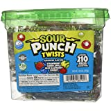 "Sour Punch Sour Punch Twists, 3"" Individually Wrapped Chewy Candy, 4 Fruity Flavors, 2.59 LB Jar, 210 Count"