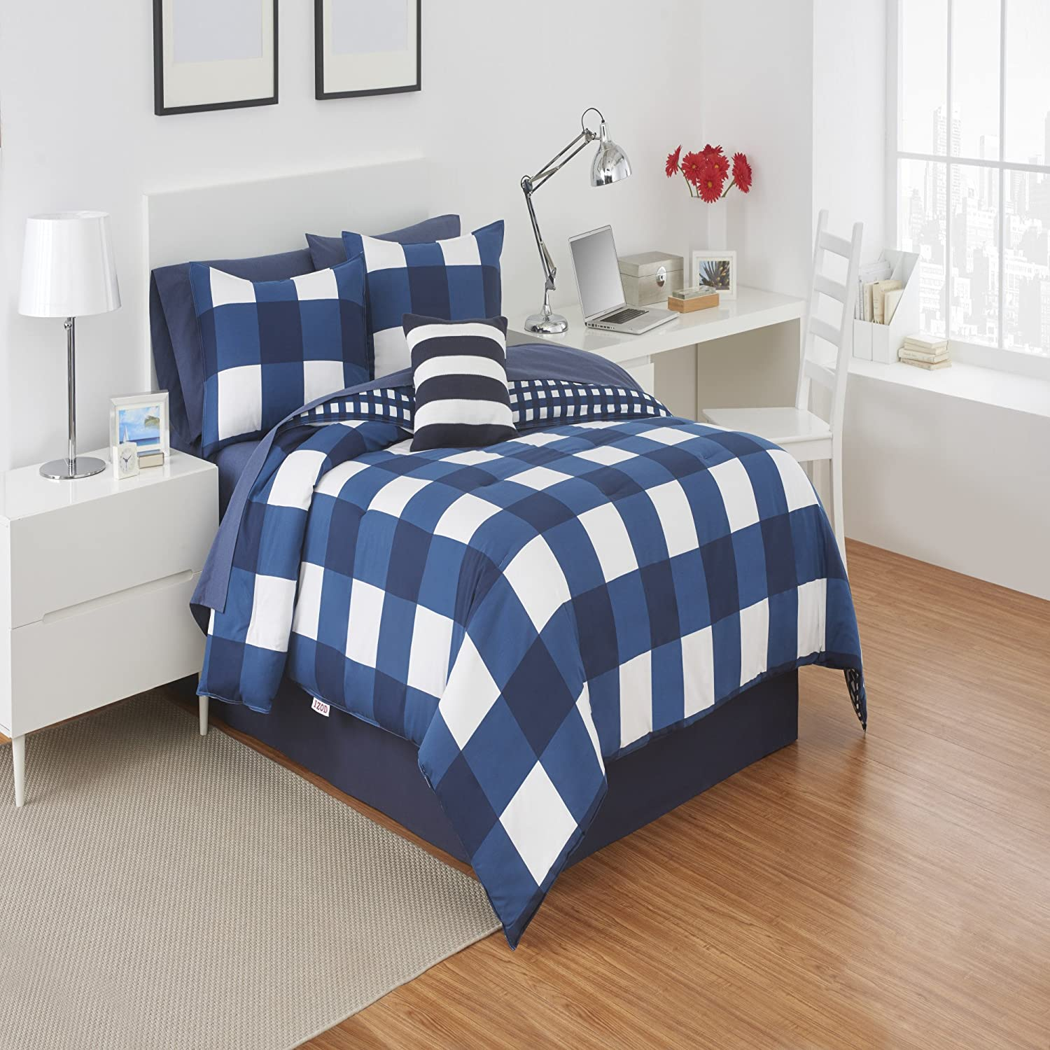 truly check free overstock shipping duvet printed comforter soft set bedding everyday plaid product cover today bath buffalo