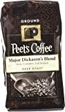 Peet's Coffee Major Dickason's Ground Coffee  (Dark), 12 oz