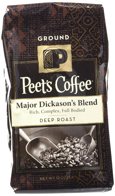 Peet's Coffee Major Dickason's Ground Coffee(Dark), 12 oz