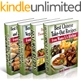 Best Asian Recipes from Mama Li's Kitchen BookSet - 4 books in 1: Chinese Take-Out Recipes (Vol 1); Wok (Vol 2); Asian Vegetarian and Vegan Recipes (Vol ... Roll and Dumpling (Vol 4) (English Edition)