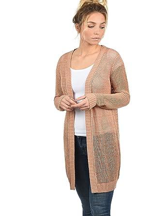 recherche de véritables offre spéciale célèbre marque de designer Desires Lia Cardigan Gilet Veste en Maille Ajourée pour Femme avec Encolure  en V 100% Coton