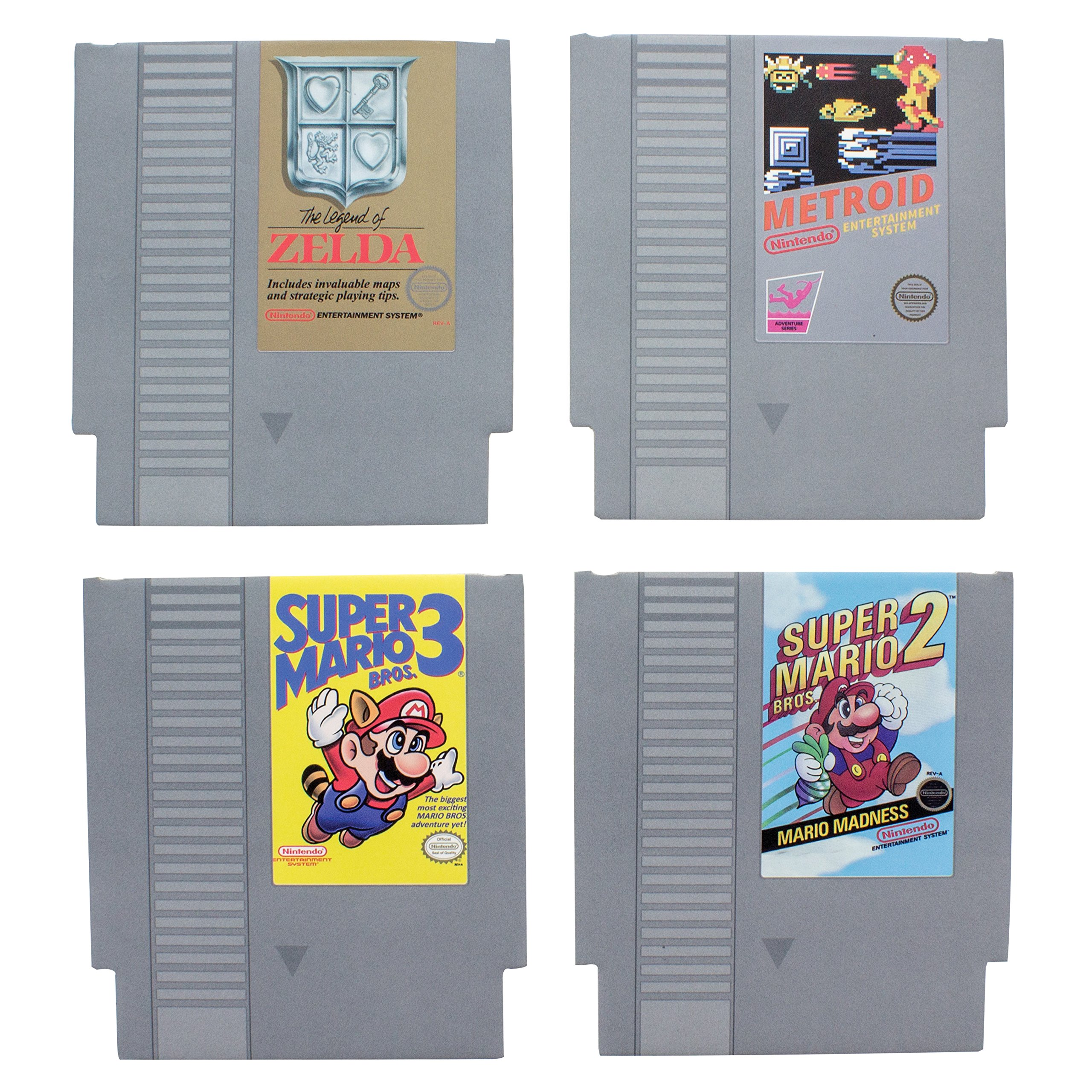 Paladone Nintendo NES Cartridge Coasters for Drinks - Nostalgic Drink Coasters Featuring All of Your Favorite Games