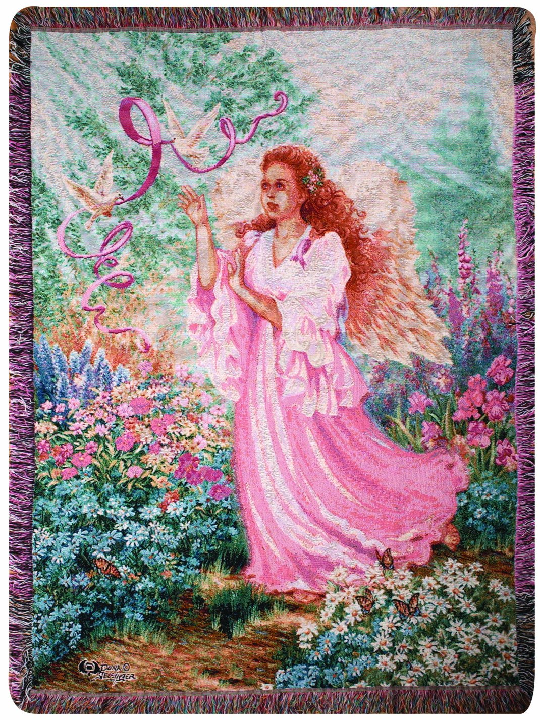 Manual Inspirational Collection Tapestry Throw, Dawn of Hope X Dona Gelsinger, 50 X 60-Inch