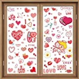 CCINEE 300pc Valentine's Day Window Clings to