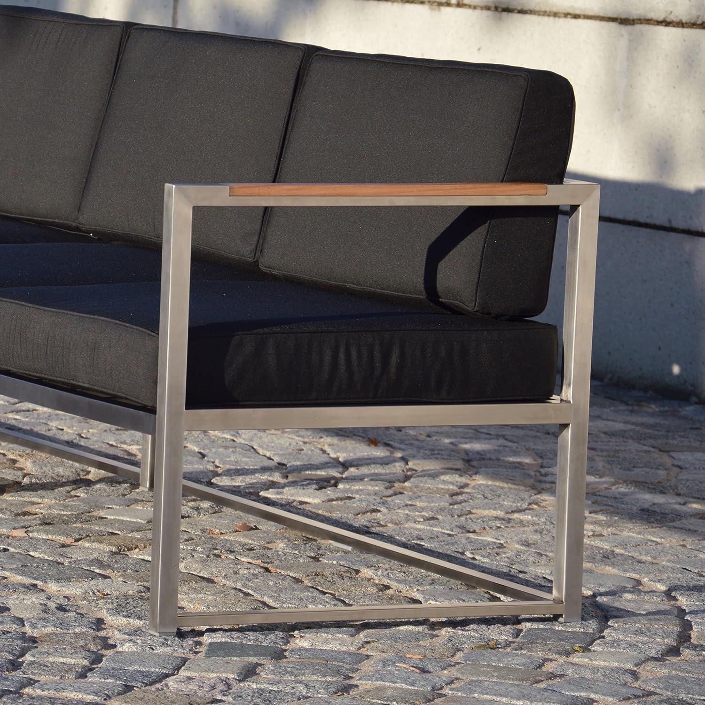 Lux Lounge Sofa 2-Sitzer Armlehne rechts / schwarz