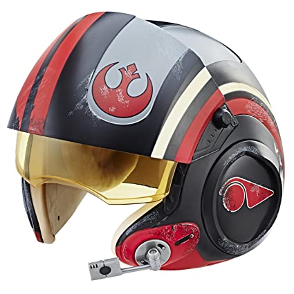new style ee368 2c07d Amazon.com  Star Wars The Black Series Poe Dameron Electronic X-Wing Pilot  Helmet  Toys   Games